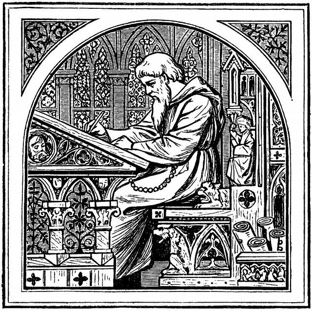 średniowieczny skryba