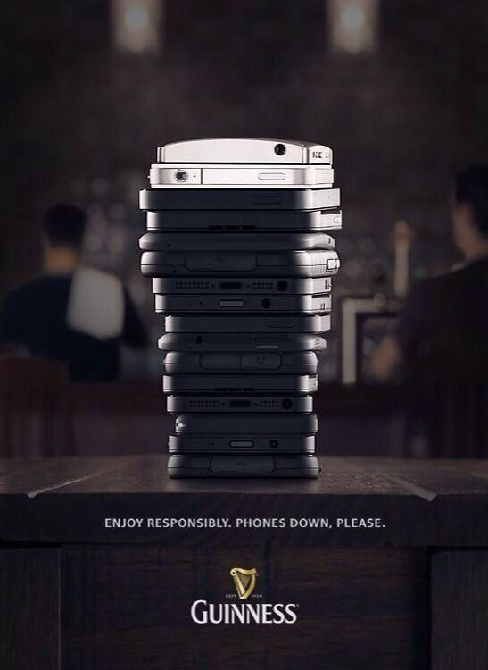 guiness phone stack