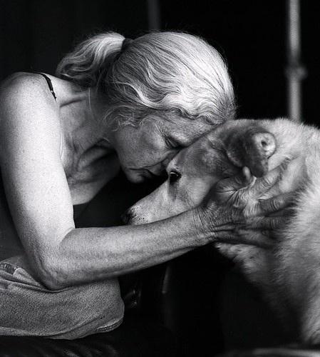 stara kobieta i wilk