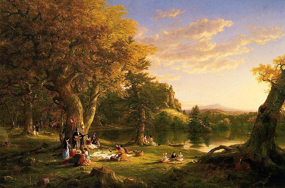 The Picnic, Thomas Cole